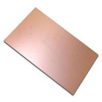 Стеклотекстолит фольгированный двухсторонний (толщина 0.37 мм, размер 296мм*185мм)