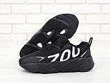 Кроссовки мужские Adidas Yeezy Boost 700 в стиле Адидас Изи Буст ЧЕРНЫЕ (Реплика ААА+), фото 5