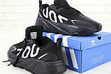 Кроссовки мужские Adidas Yeezy Boost 700 в стиле Адидас Изи Буст ЧЕРНЫЕ (Реплика ААА+), фото 2