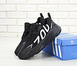 Кроссовки мужские Adidas Yeezy Boost 700 в стиле Адидас Изи Буст ЧЕРНЫЕ (Реплика ААА+), фото 6