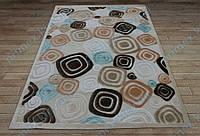Акриловый рельефный ковер Bonita (Турция) кубики кремовый
