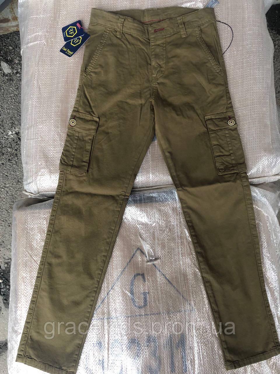 Котоновые брюки хаки для мальчиков командосы,разм 11-15лет