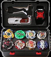 Набор Beyblade Box 8 шт. бейблейд, серия Чёрный взрыв (Black burst) Эксклюзив
