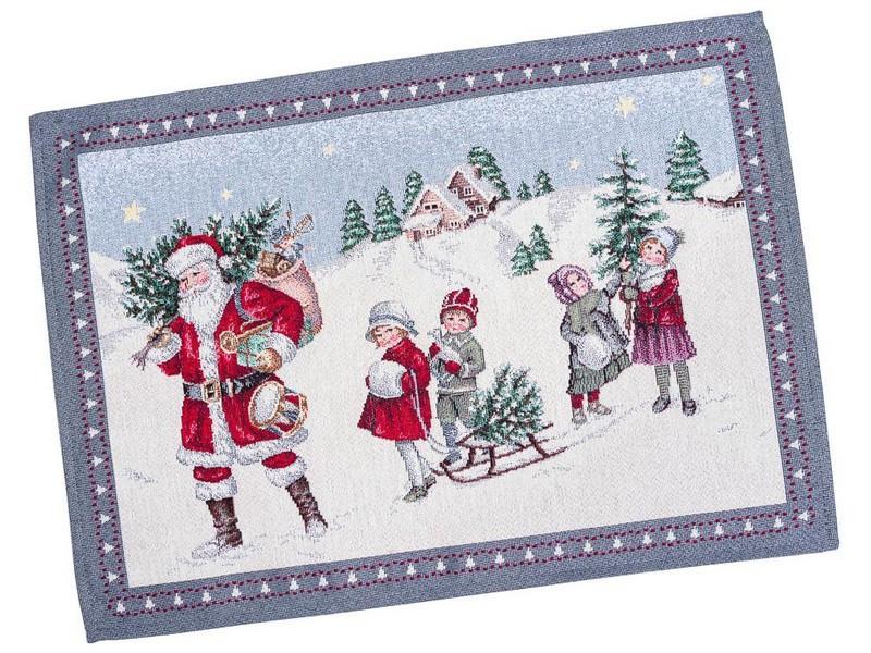 Салфетки под тарелки гобеленовые новогодние 37 х 49 см