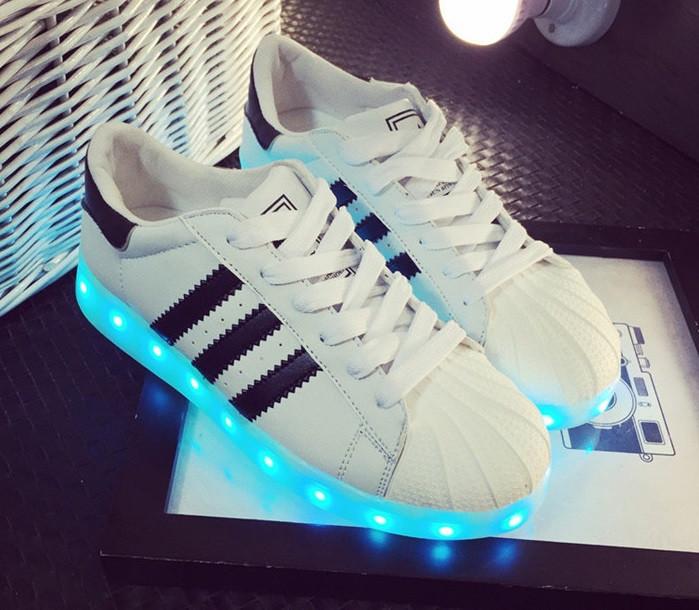 LED Кроссовки Superstar 38