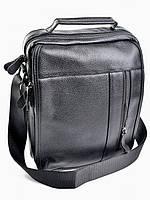 Мужская кожаная сумка  RF-2158 Black