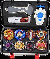 Кейс Beyblade набор Box 8 шт. бейблейд, бокс серия  Спрайзен С5, ескалиус, волтраек, фафнир, лучник