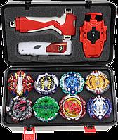 Набор бейблейд, Beyblade Box серия Экскалиус 8шт +бокс + 2 набора запуска + Подарок