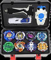 Набор бейблейд кейс Beyblade Box Серия ВОЛТРАЕК (Valkyrie V5), 8шт +бокс +2 набора запуска + Подарок