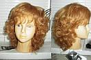 Кучерявый короткий русый женский парик из натуральных волос, фото 7