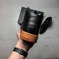 Кроссовки мужские весенние черные на коричневой подошве Fila топ-реплика, фото 2