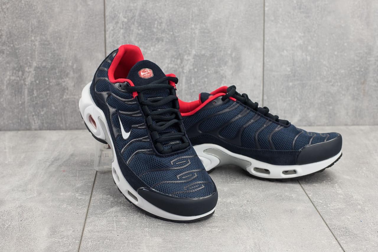 9b39eb7a Кроссовки мужские весенние сине-белые Nike Air Max Plus TN топ-реплика