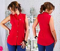 Женская рубашка штапель 48-54р ока126, фото 1