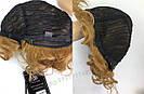 🧡  Женский кучерявый короткий парик из натуральных волос, русый 🧡, фото 6