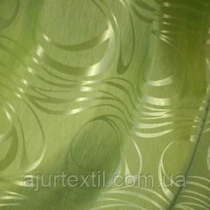 """Штора """"Хвиля"""" зелена"""