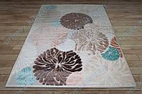 Акриловый рельефный ковер Bonita (Турция) хризантемы кремовый