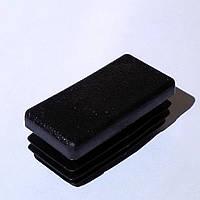 Заглушка прямоугольная 20х40 мм пластиковая черная, фото 1
