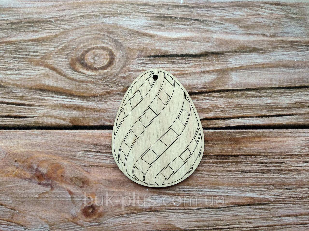 Деревянная заготовка из фанеры. Пасхальное яйцо № 2  (55х70 мм.)
