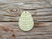 Деревянная заготовка из фанеры. Пасхальное яйцо № 5  (55х70 мм.)