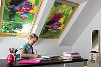 Штора FAKRO ARF DreamWorks на направляючих для мансардних вікон штори блекаут Факро АРФ Дримворкс шторы Fakro