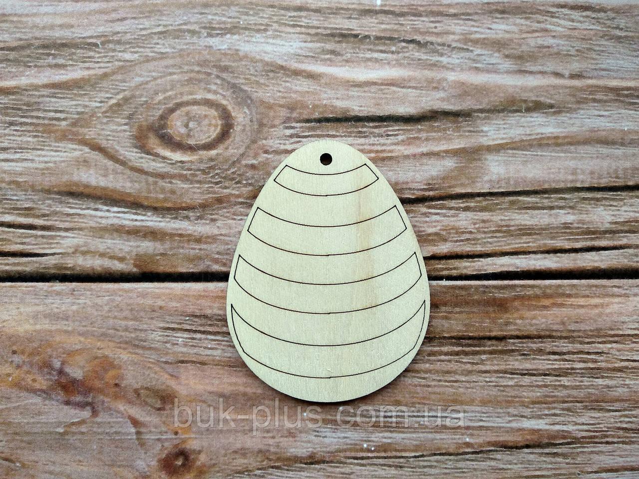 Деревянная заготовка из фанеры. Пасхальное яйцо № 9  (55х70 мм.)