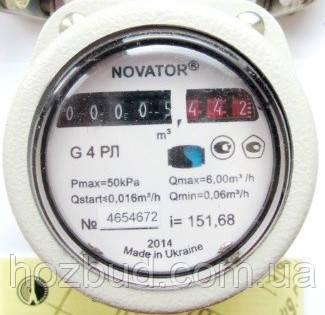 Газовый счетчик роторный Новатор G4