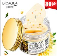 ОПТ 12 шт! Патчи для глаз Golden Osmanthus Eye Mask с золотым османтусом Bioaqua - 80 шт, фото 1