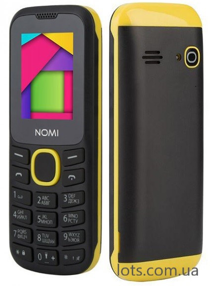 Телефон Nomi i184 Black-Yellow