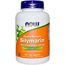 """Расторопша NOW Foods """"Silymarin"""" с экстрактами артишока и одуванчика, 300 мг (200 капсул)"""