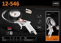 Пистолет для подкачки шин с манометром 63мм,  NEO  12-546