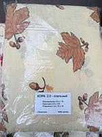 Полуторна постільна білизна жатка Тирасполь - коричневі листя