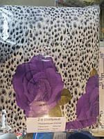 Постельное полуторное белье жатка Тирасполь с фиолетовыми цветами