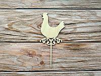Деревянная заготовка из фанеры. Топпер Курица (60 х 135 мм)