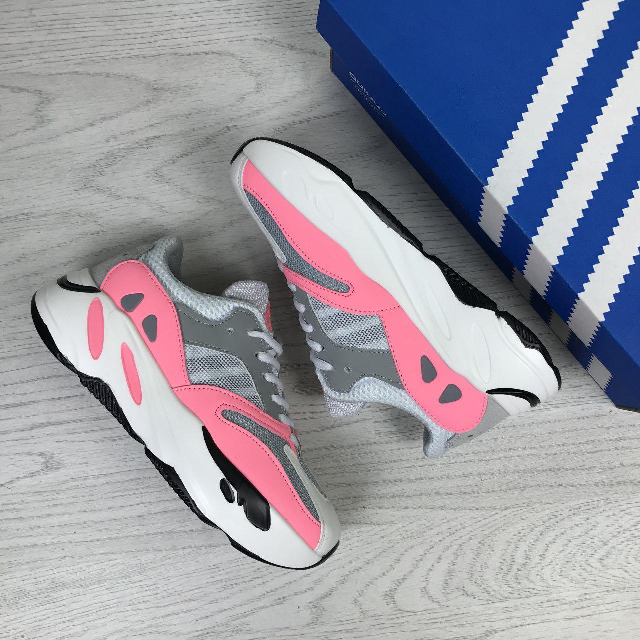 half off 17a19 6fc96 Кроссовки Adidas x Yeezy Boost 700 OG (бело/розовые) Реплика класса люкс:  продажа, цена в Днепре. кроссовки, кеды повседневные от
