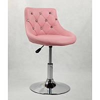 Кресло парикмахерское, кресло для клиентов салона красоты (Польша) 931N розовый