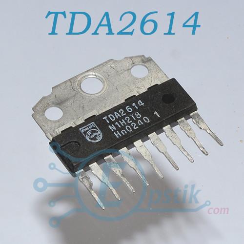 TDA2614, Аудио усилитель мостовой, 6Вт, 15...42В, HSIP-9