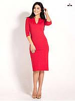 Красивое женское платье футляр красное