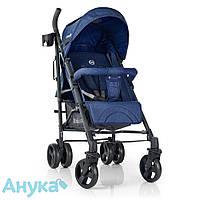 Детская прогулочная коляска-трость EL CAMINO  PILOT ME 1029 BREEZ Space Blue до 15кг, корзина синий