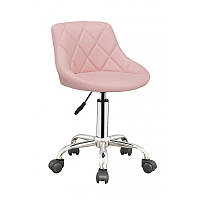 Стул для мастера со спинкой, Кресло мастера HC1054K Розовый