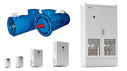 Комплектный электропривод с двигателем АДЧР90L4 и преобразователем частоты GK800-4T2.2B GTAKE