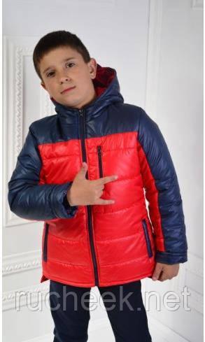 Куртка весенняя демисезонная на мальчика Драйв, рост 122 - 140. Украина