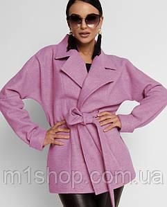Женское короткое пальто с поясом (Скарлетjd)