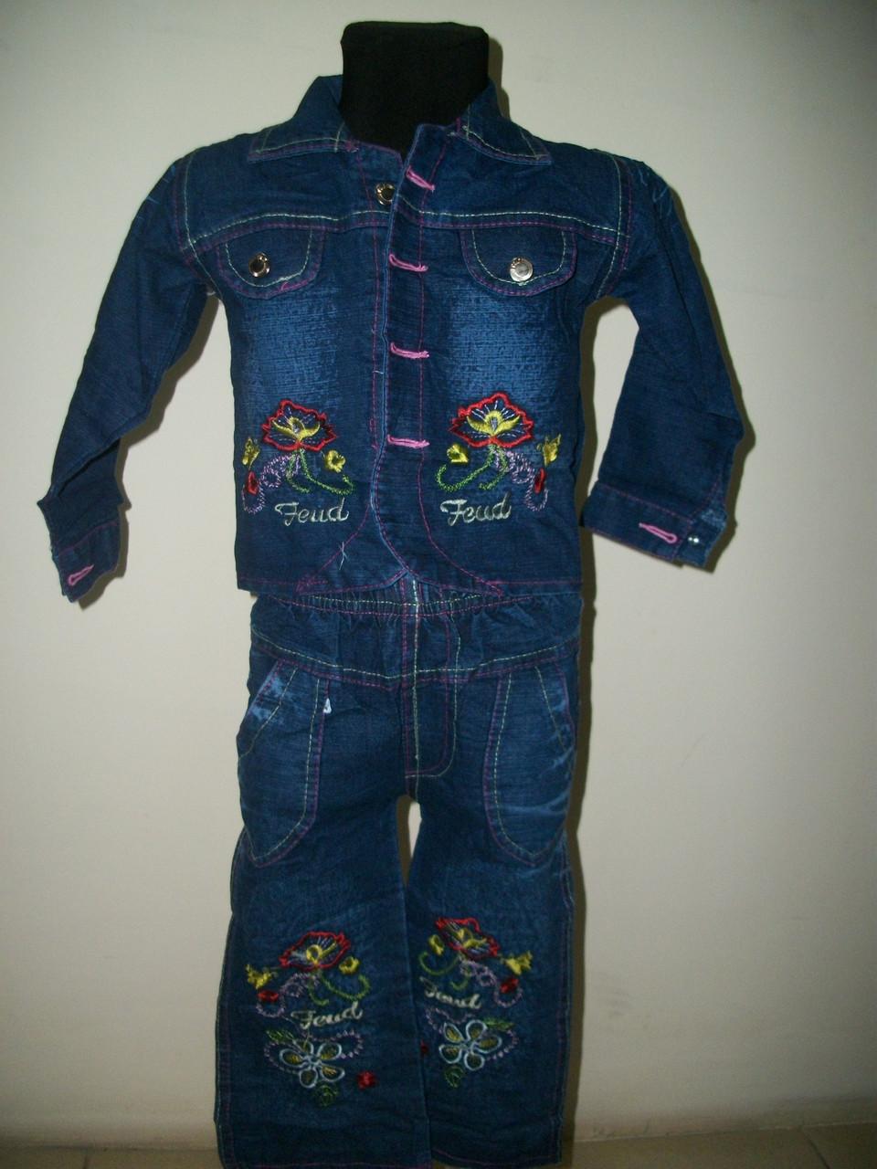"""Джинсовый костюм для девочки """"Алиса"""" 1-4 года"""