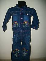 """Джинсовый костюм для девочки """"Алиса"""" 1-4 года , фото 1"""