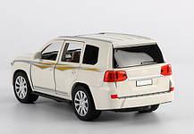 Машинка металлическая Тойота Автопром 7690 Toyota Land Cruiser. Свет. Звук. Открываются двери, капот, багажник, фото 3
