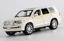 Машинка металлическая Тойота Автопром 7690 Toyota Land Cruiser. Свет. Звук. Открываются двери, капот, багажник, фото 2
