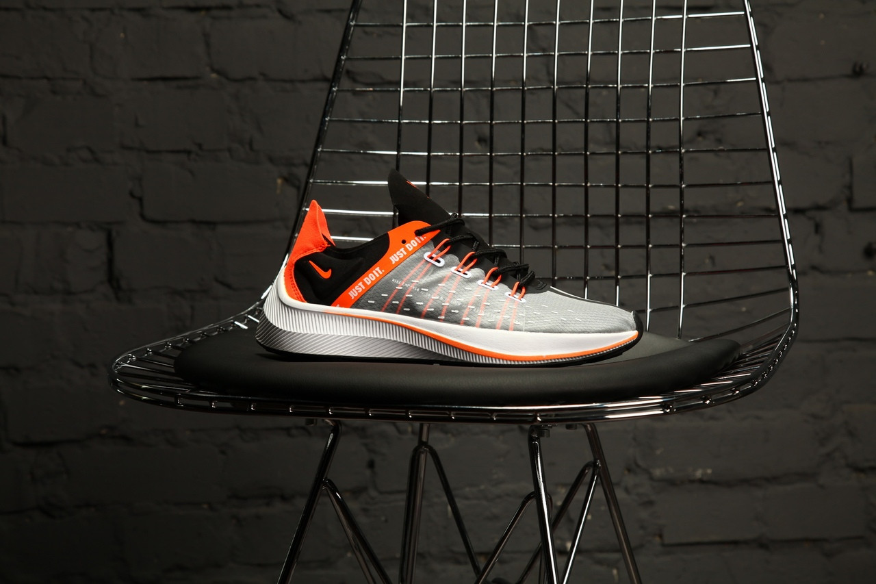 Мужские кроссовки в стиле Nike EXP-X14 Just Do It Pack (black/orange), Реплика ААА