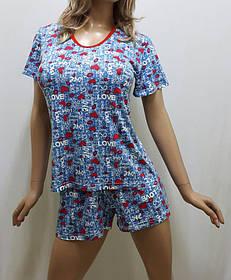 Пижама шорты с футболкой хлопок, размеры от 42 до 54, Харьков