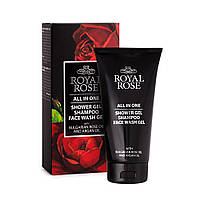 Гель для душа/Шампунь/Гель для умывания лица для мужчин Royal Rose 150 мл