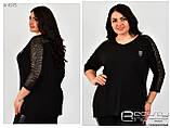 Блуза женская трикотажная Размеры 56.58.60, фото 3